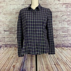Chaps Plaid Buttoned Front Long Sleeve Shirt